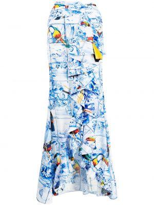 Белая юбка из полиэстера Stella Jean