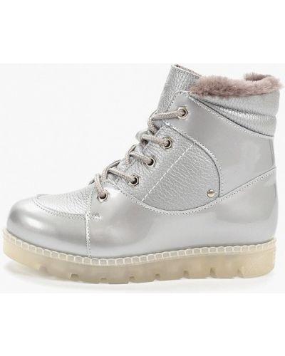 Ботинки лаковые серые Tapiboo