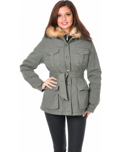 Пальто с капюшоном из лисы Mor`a