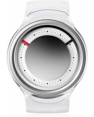 Czarny zegarek kwarcowy srebrny kwarc Ziiiro