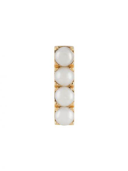 Złote kolczyki perły Northskull
