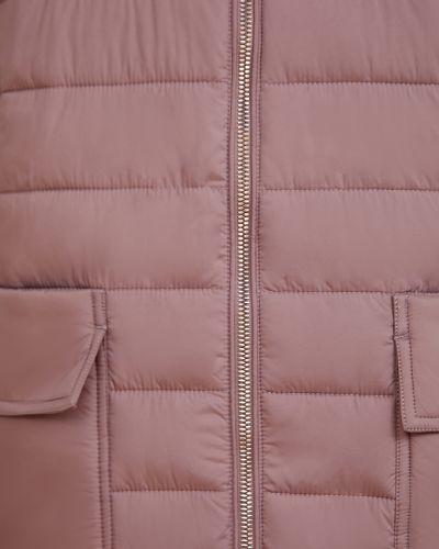 Теплое нейлоновое сиреневое пальто Finn Flare