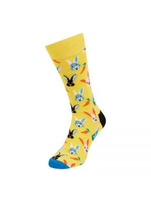 Prążkowane żółte skarpety Happy Socks