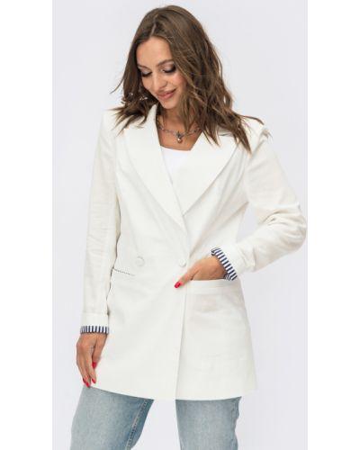 Льняной пиджак - белый Dressa