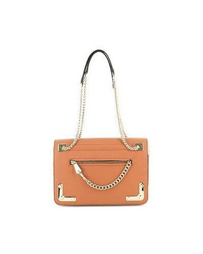 Кожаная сумка вечерняя коричневый Furla