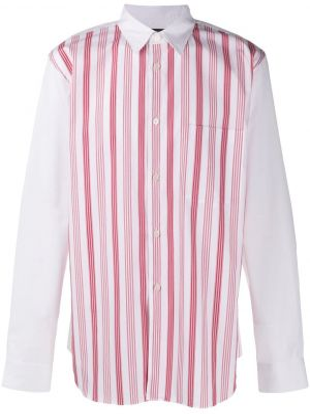 Koszula z długim rękawem klasyczna z paskami Comme Des Garcons Homme Plus