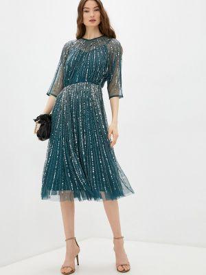 Вечернее платье с оборками - зеленое Frock And Frill