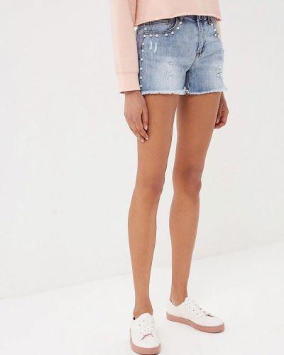 Голубые джинсовые шорты Miss Bon Bon