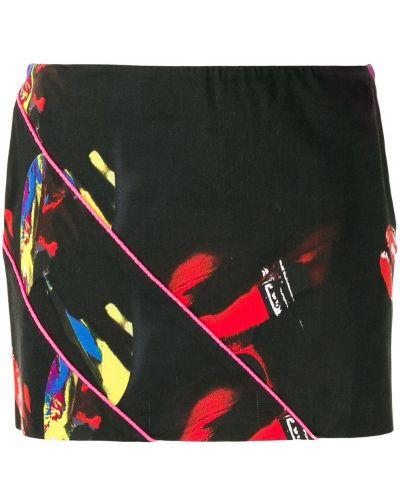 Юбка мини с цветочным принтом юбка-шорты Versace Vintage