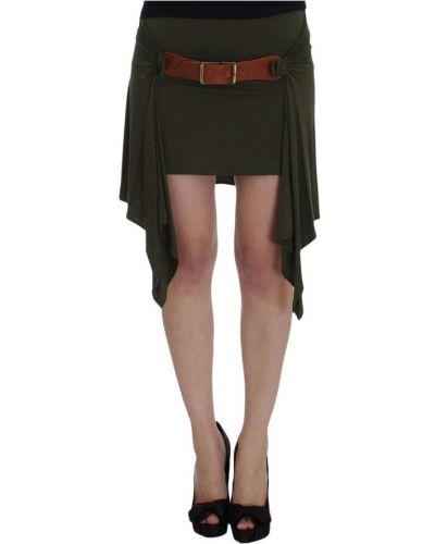 Zielona spódnica mini z wiskozy Plein Sud