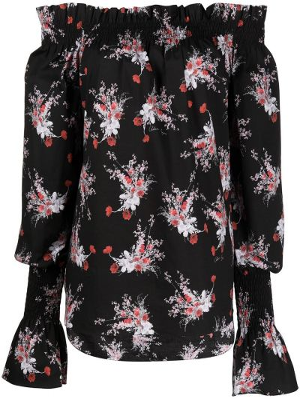 Блузка с открытыми плечами - черная Adam Lippes