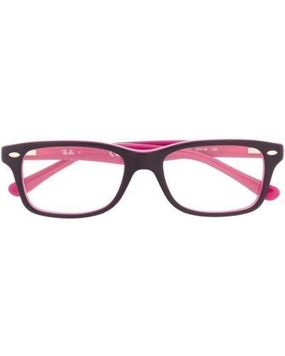 Фиолетовые очки прямоугольные металлические Ray Ban Junior