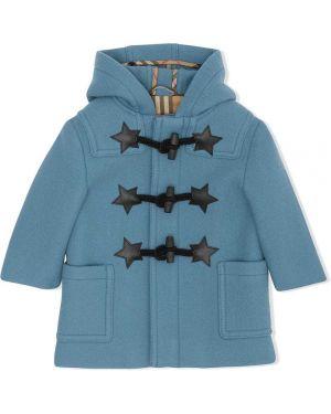 Klasyczny niebieski płaszcz wełniany Burberry Kids