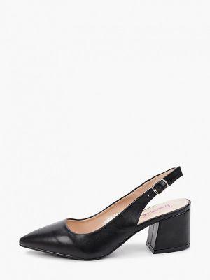 Черные туфли с открытой пяткой Vera Blum