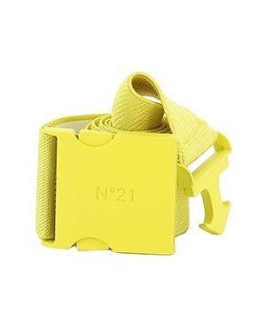 Желтый ремень из вискозы No.21