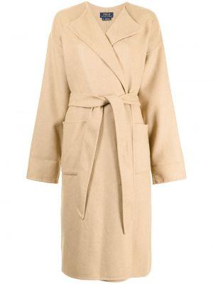 Шерстяное полупальто - коричневое Polo Ralph Lauren