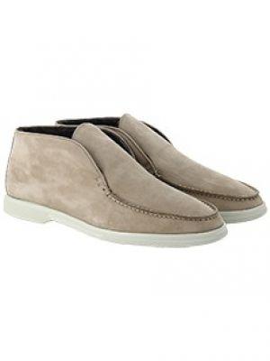 Бежевые ботинки с мехом Enrico Mandelli