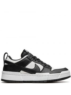 Ażurowy włókienniczy czarny sneakersy na sznurowadłach Nike