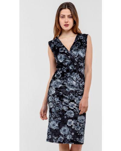 Велюровое черное платье Modniy Oazis