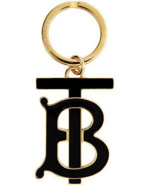 Brelok z logo czarny Burberry
