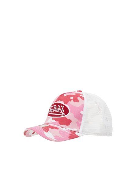 Różowy bawełna bawełna czapka baseballowa Von Dutch