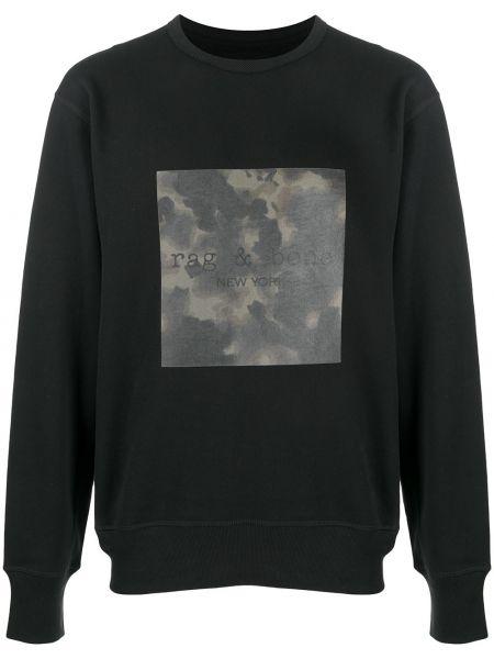 Bawełna czarny bluza z mankietami z długimi rękawami Rag & Bone