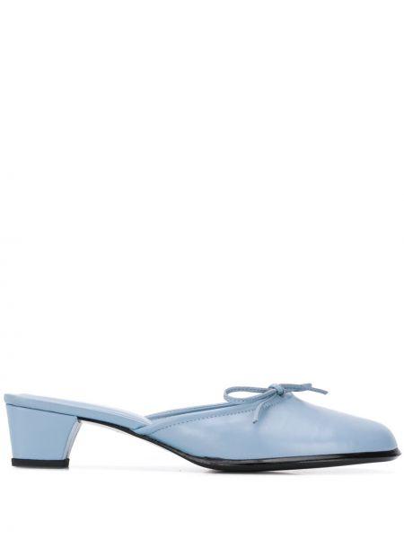Синие мюли на каблуке без застежки Dorateymur