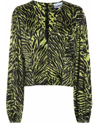Блузка батник зеленый Ganni
