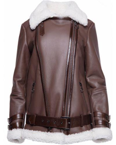 Кожаная куртка из овчины - коричневая Rozetka