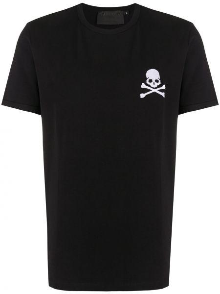 Koszula krótkie z krótkim rękawem prosto z haftem Philipp Plein