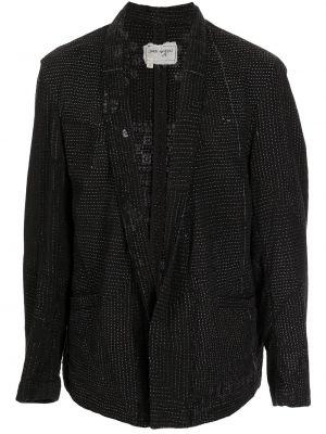 Черный пиджак на пуговицах Greg Lauren