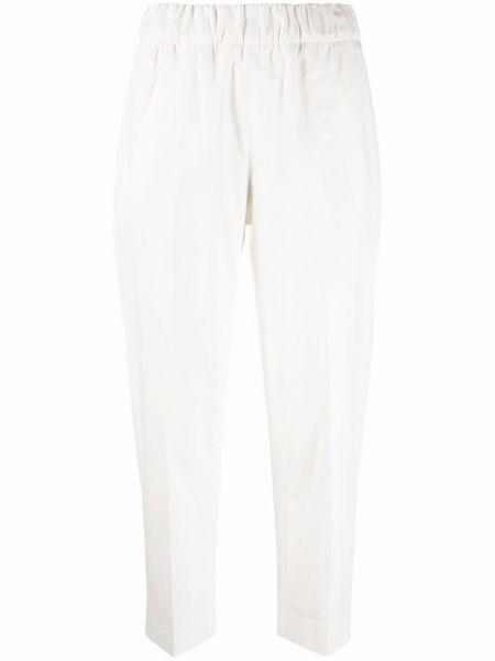 Белые укороченные брюки Tela