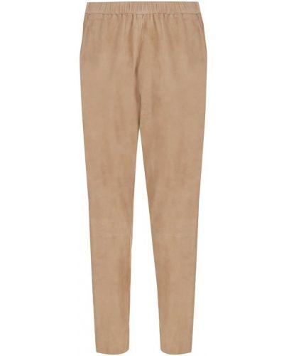 Укороченные брюки прямые замшевые Drome