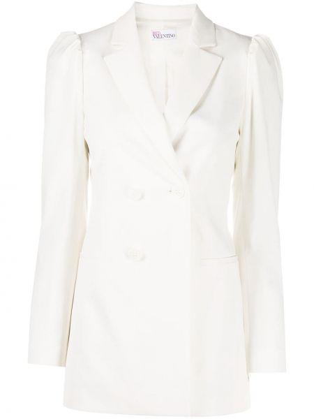 С рукавами белый удлиненный пиджак двубортный Redvalentino