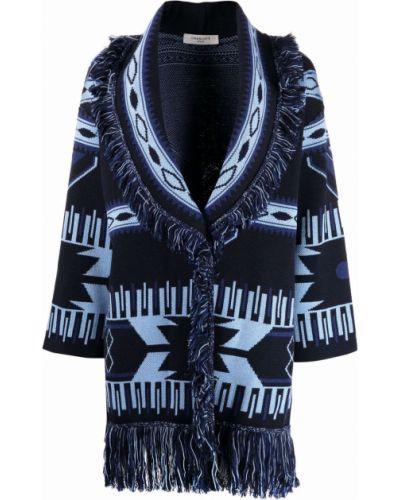 Синее длинное пальто Charlott