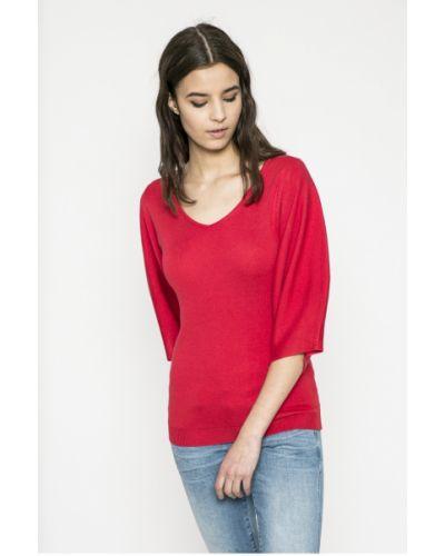 Красный свитер с V-образным вырезом Morgan