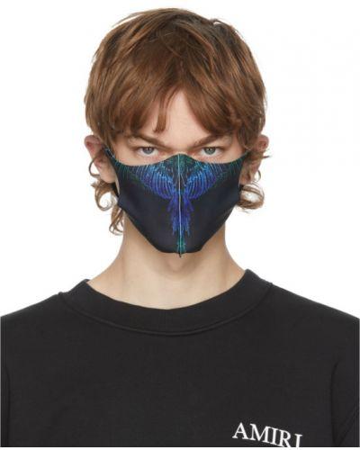 Czarny satyna maska do twarzy perforowany Marcelo Burlon County Of Milan