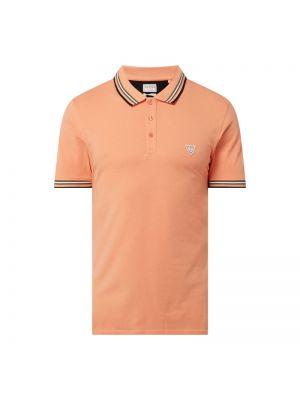 T-shirt bawełniana - pomarańczowa Guess