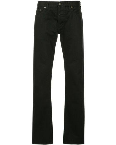 Черные расклешенные джинсы на пуговицах с карманами из вискозы Addict Clothes Japan