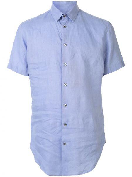 Koszula krótkie z krótkim rękawem klasyczna z kołnierzem Giorgio Armani