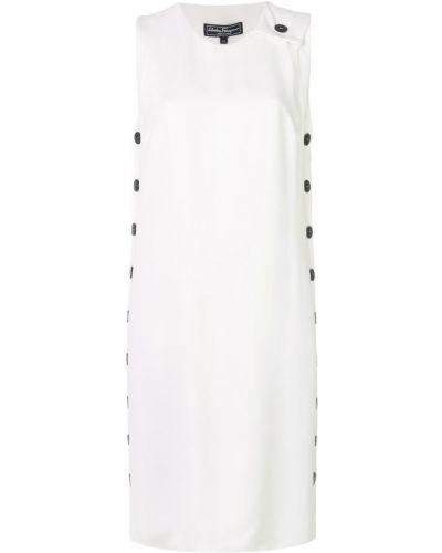 Платье миди на пуговицах из вискозы Salvatore Ferragamo