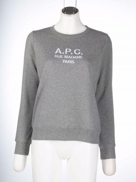 Хлопковый свитшот - серый A.p.c.