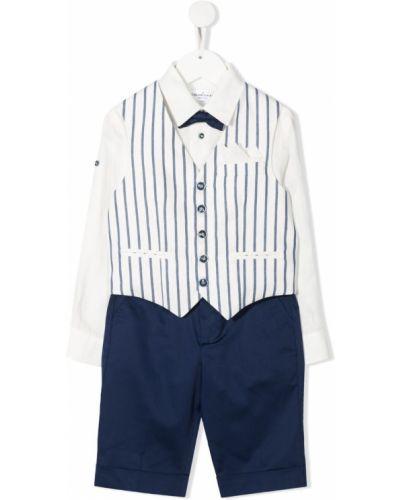 Klasyczny biały garnitur bawełniany Colorichiari