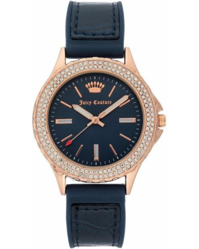 Niebieski złoty zegarek mechaniczny kwarc Juicy Couture