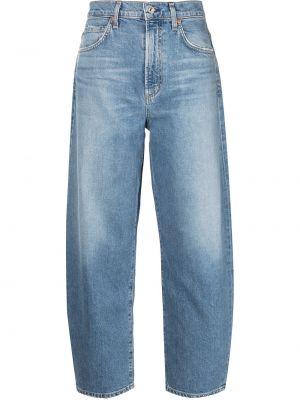 Синие с завышенной талией джинсы свободного кроя Citizens Of Humanity