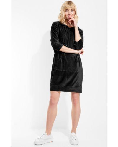 Платье вельветовое - черное Anabel Arto