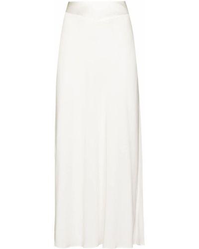 Biała spódnica z wiskozy Rixo