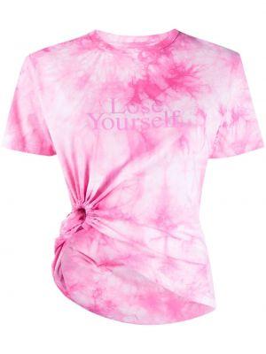 Розовая хлопковая рубашка круглая Paco Rabanne