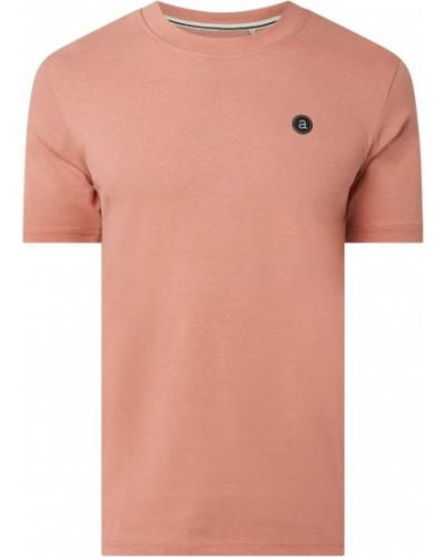 Różowy t-shirt bawełniany Anerkjendt