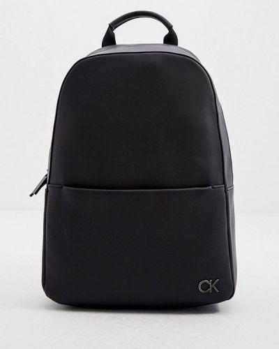 Городской черный кожаный рюкзак Calvin Klein